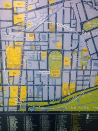 Street Map London Uk.Grosvenor Square Road Side Street Map Picture Of London England