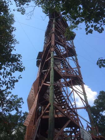 Whitesburg, GA: The climbing tower and Flight of the Falcon launching pad