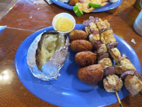 Michie, TN: Chicken kabob platter