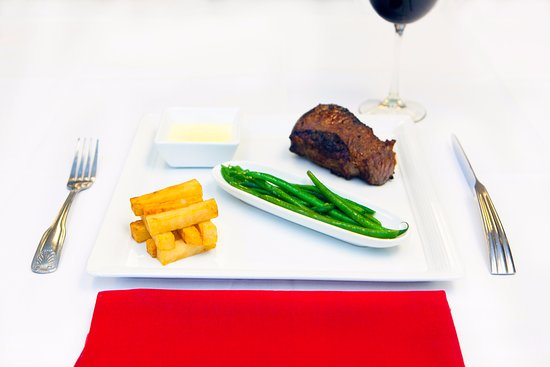 Le Bistro: New York Strip Steak. Aged Prime Beef Steak, Cooked to your Liking.