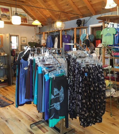 Cornucopia, WI: Original clothing, sculpture, pottery, jewelry, paintings & gifts.