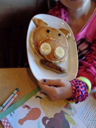 Bob Evans: cute pancakes for kids