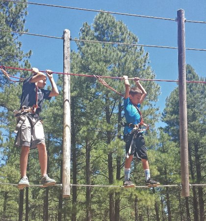 Flagstaff Extreme: Scared at first but having the time of their lives!