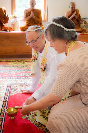 Lipa Noi, Thailand: Thai wedding ceremony