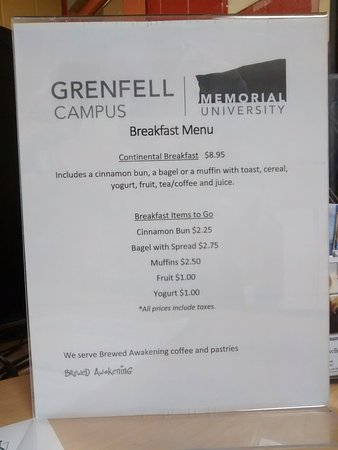 Grenfell Campus Summer Accommodations, Memorial University of Newfoundland: This was what was suppose to be included.