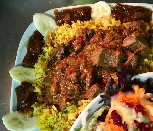 Winnsboro, TX: Authentic Beef Curry & small house salad. A traditional South African spicy, savory satisfying d