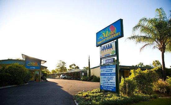 Roma, Australia: Motel Entry & Gardens