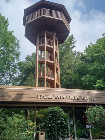 Edgar Evins State Park: The park office has an observation tower open to visitors.
