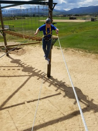 Fraser, CO: the 79-year-old grandfather on the tight rope