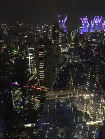 Skyline View From Hotel Roof Top Bar Picture Of The Westin Jakarta Jakarta Tripadvisor