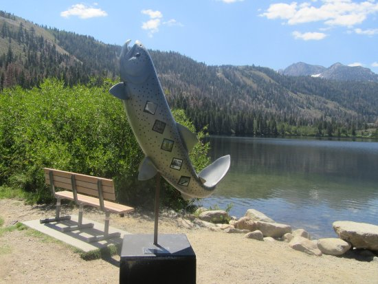 Large Trout Statue, Gull Lake Park, June Lake, CA