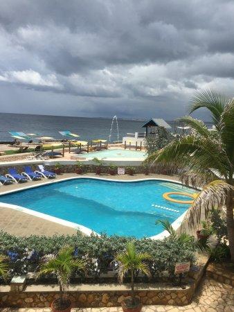 Samsara Cliffs Resort: View from upstairs dinning area