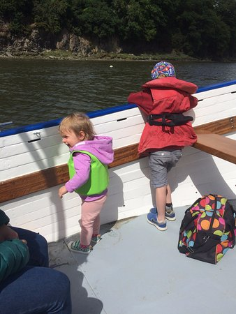Diana Ellen: My children on the hunt for sharks in the river. Kept them entertained.