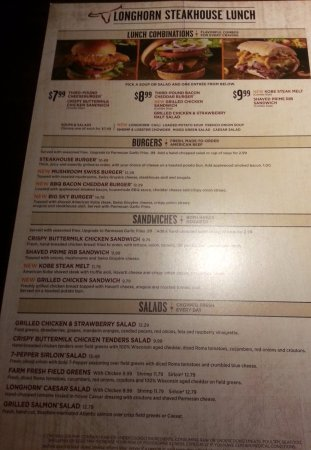 Longhorn appetizer menu / Boston headshot photographer