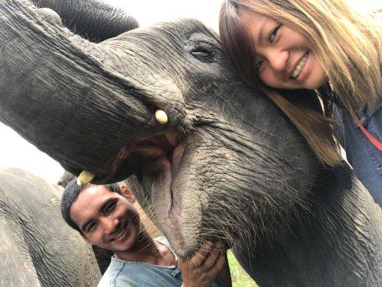 Lanna Kingdom Tours: look how happy Lanna is taking a selfie!