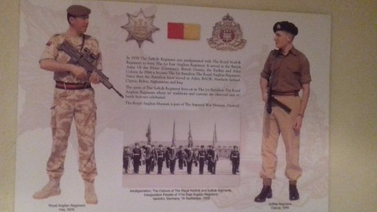 Moyse's Hall Museum: The Suffolk Regiment Display