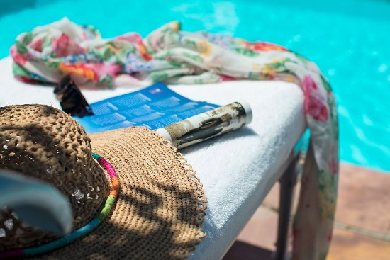 The Last Word Constantia: Spending time by the pool.