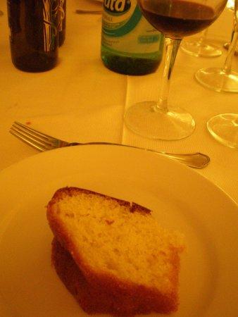 Starhotels Terminus: デザート。これも洋酒たっぷりしみ込んで美味しい