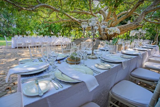 Garden Wedding Reception Picture Of Belgrace Boutique Hotel White