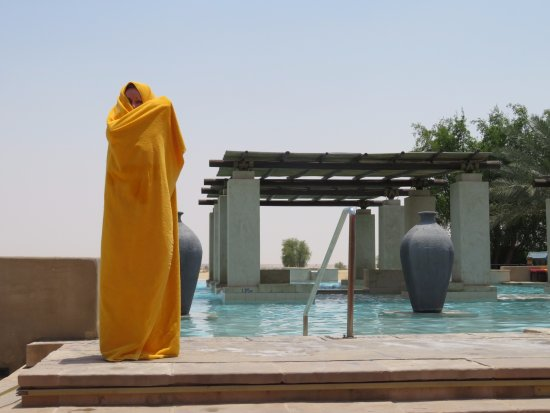 Bab Al Shams Desert Resort & Spa: We spent a lot of time at this exceptionally well designed pool