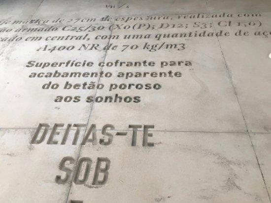 betondecke casa do conto arts residence mit schriften spachteln kosten
