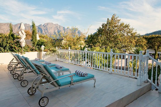 The Last Word Franschhoek: The upstairs sun deck.