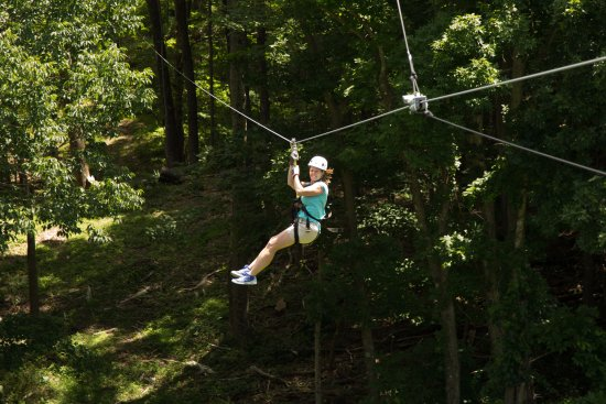 Hot Springs, VA: The Ridge Runner Zip Tour includes 8 zip lines spanning more than 4,000 ft.