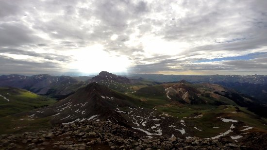 Lake City, Κολοράντο: on top of Wetterhorn with Uncompahgre in the background