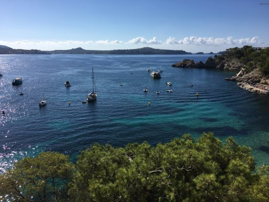 Hotel Cala Fornells: View from pool terrace - 4th floor