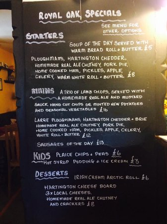 Wetton, UK: The Specials Board!