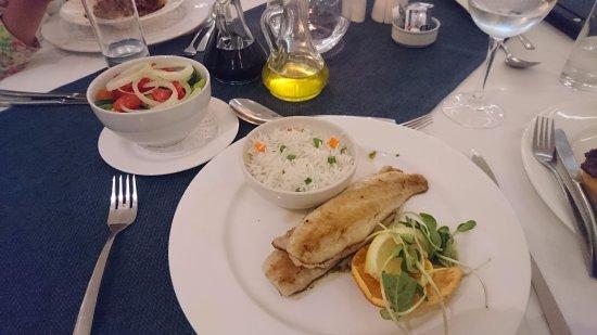 Beach Lodge Swakopmund: レストランでの食事も素晴らしいです。牡蠣もとてもおいしい
