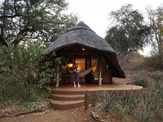 Imbabala Zambezi Safari Lodge: Hut with a hammock!