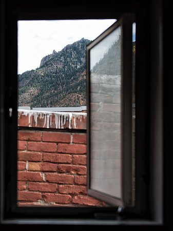 """Ouray Chalet Inn : Only """"view"""" was from bathroom window."""