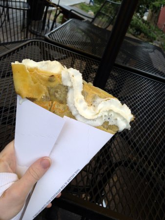 Crepes A La Cart: Chocolate Crepe with Whipped Cream