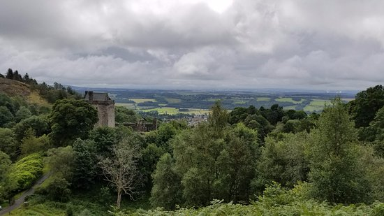 The view from the trails above Castle Campbell