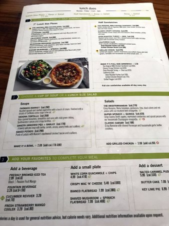 lunch duos and more - Picture of California Pizza Kitchen ...