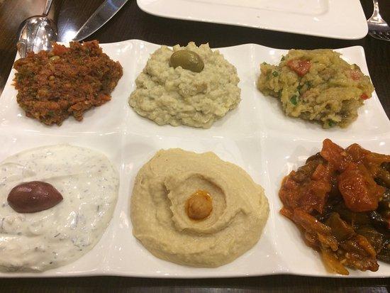 Meze platter picture of galata mediterranean cuisine for Athena mediterranean cuisine ny