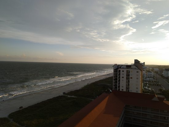View from balcony near sunset