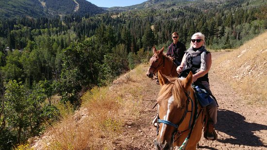 Red Pine Adventures: My son, on Eastwood, and me, on Top Gun, high above Park City!