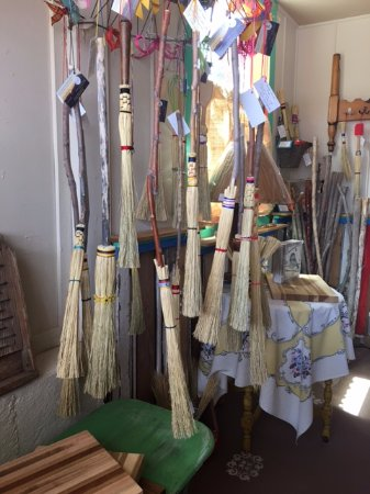Fort Davis, TX: Wide variety of brooms and novelties to choose from