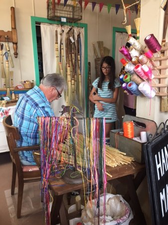 Fort Davis, TX: This electronic obsessed 10 year old loved watching Jim make the brooms and listening to his sto