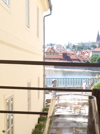 Four Seasons Hotel Prague: View from the outdoor part of the restaurant
