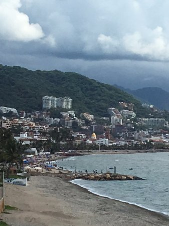 Buganvilias Vacation Club: looking towards downtown from room 1476