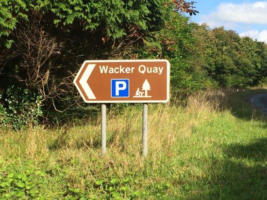 Wacker Quay: In off the main road