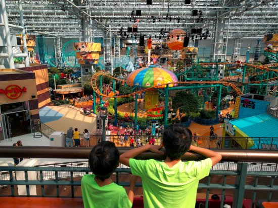 Nickelodeon Universe: From the 3rd floor