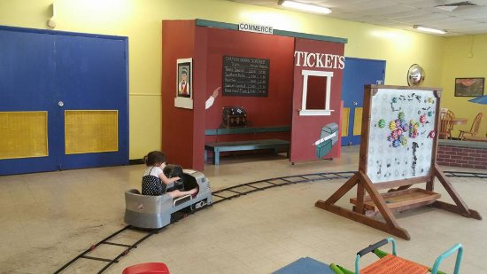 Northeast Texas Children's Museum: Self propelled train (only 1 at time could play, but wasn't busy)
