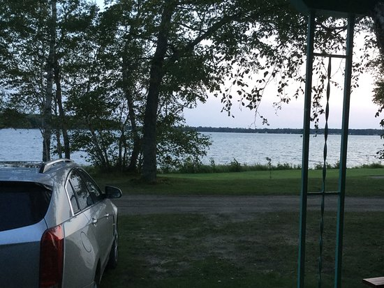Trout Lake, MI: View from our motel front window!