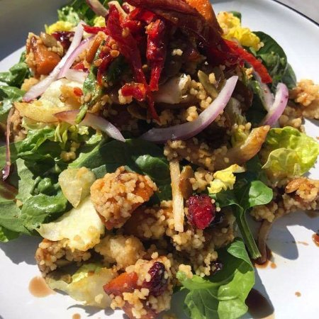 Cardiff, Australia: Honey Roasted Pumpkin and Couscous Salad with Sun Dried Tomatoes and Seeds.