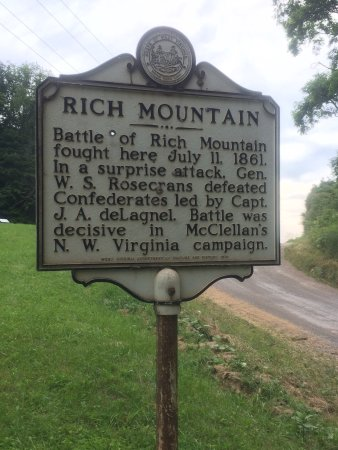 Rich mountain Battlefield Civil War Site