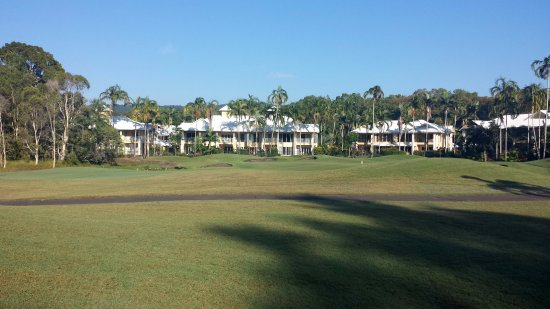 Paradise Links Resort Port Douglas: View from golf course to some of the villas